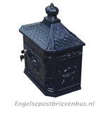 Engelse Brievenbus Wandmodel - Blauw_