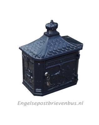 Engelse Brievenbus Wandmodel - Blauw