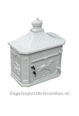 Engelse Brievenbus Wandmodel - Wit