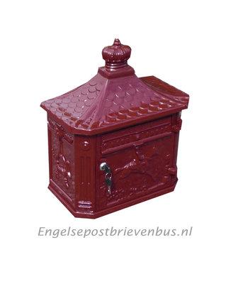 Engelse Brievenbus Wandmodel - Bordeaux Rood
