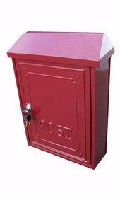 Engelse Brievenbus Wandmodel Modern - Rood