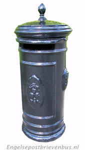 Engelse Brievenbus Rond - Blauw