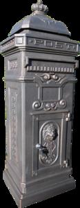 Engelse Brievenbus Aluminium - Brons